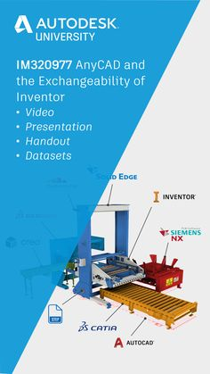 Learn how to use AnyCAD for Inventor to refrence non-native files (without translation) in this Autodesk University class by Mike Thomas. Autocad Inventor, Autodesk Inventor, Cad Tools, Third Party, Marketing Digital, Beast, Presentation, University, Learning