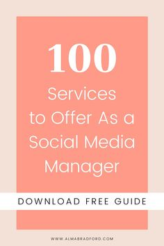 Learn which services you can offer to grow your business! I put together this FREE guide to help you get clear on which services you want to focus on based on what you already know, and find out what areas you want to specialize in to stand out from the crowd. #socialmedia #workfromhome
