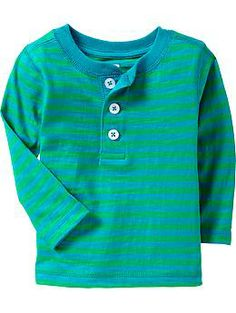 Striped Henleys for Baby- love this color but like the other colors as well! 12-18 months