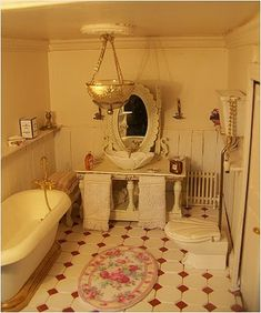 Doll House Bathroom Sinks 31 Ideas For 2019 Miniature Rooms, Miniature Houses, Miniature Furniture, Doll Furniture, Dollhouse Furniture, Victorian Dollhouse, Dollhouse Dolls, Dollhouse Miniatures, Shabby Chic