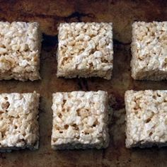 {recipe} salted brown butter rice crispy treats. the best rice crispy treats you have EVER had.