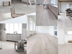 Floor inspiration - white oak // moodboard by Milou Nieuwenhuis