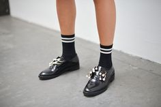 Pin for Later: Updated! See All the Quirky-Cool Shoes and Bags We Spotted at MFW Milan Fashion Week, Day 5 Coliac shoes.