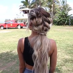 Hairstyles with braids Braided Hair Tutorial - - Geflochtenes Haar Tutorial - # geflochten - Braided Hairstyles Tutorials, Ponytail Hairstyles, Braided Hair Tutorials, Short Hair Braids Tutorial, Hairstyles Videos, Updo Hairstyle, Curly Hair Styles, Natural Hair Styles, Braids For Curly Hair