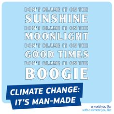 There is no boogieman. #IPCC confirmed that humans are the main cause of #climate change.