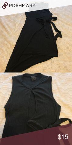 Dark grey dress Dark grey dress with keyhole front, ties at waist. may pink Dresses Mini