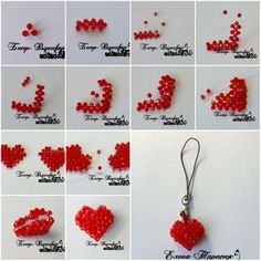 How to make beads or pearl Heart Ornament step by step DIY tutorial instructions, How to, how to do, diy instructions, crafts, do it yourself, diy website, art project ideas