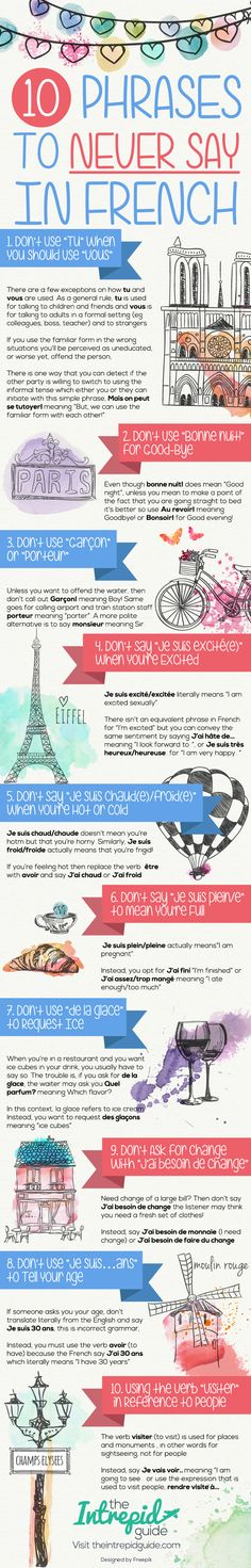 10 Phrases to Never Say in French                                                                                                                                                                                 More