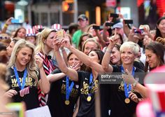 Hope Solo from The United States women's national soccer team is seen at 'Good Morning America on July 10, 2015 in New York City.