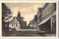 Ostpreußen,Tapiau   Markt und Kirche