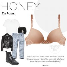 Wear me under white! Discover a touch of Opulence on every day of the week with all of your favourite styles, now available in Honey: https://goo.gl/gy4FK6