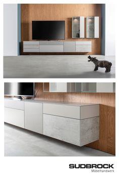 Media Furniture, Living Room Furniture, Media Unit, Home Decor Trends, Storage, Table, Interiordesign, Credenza, Cabinets