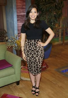 America Ferrera promoting 'How to Train Your Dragon 2.' Hair by Christian Wood. Styled by Karla Welch.