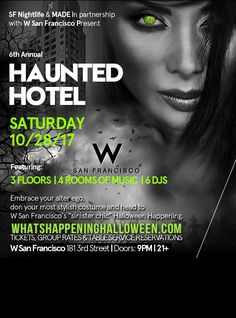 W San Francisco Halloween Party Tickets | 6th Annual Haunted Hotel in SF 2017