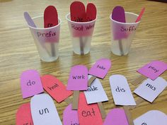 prefix, root word, suffix sorting center