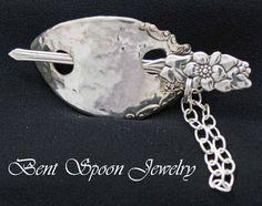Silverware Jewelry Ornate Floral Vintage by Bentspoonjewelry, $29.00