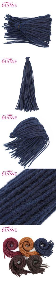 """HANNE one pack 22"""" Crochet Braids Burgundy blue brown orange 55g/pack Dreadlocks Synthetic Hair Extension For Black Women Or Men"""
