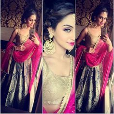 Krystle D'Souza is one of the most stylish television personalities off-screen. So, take a look at her gorgeous outfits to look stylish at any wedding Indian Wedding Outfits, Pakistani Outfits, Indian Outfits, Pakistani Clothing, Sikh Wedding, Ethnic Outfits, Wedding Updo, Indian Weddings, Wedding Wear