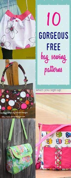 free bag patterns   purse sewing patterns   diy bags