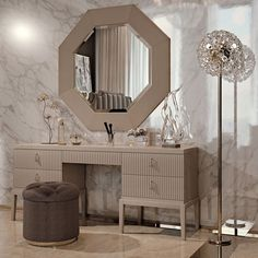 A touch of sophistication and opulence, creating the most striking of outlines; perhaps one of the most recognisable features of Art Deco. Discover the High End 5 Drawer Art Deco Inspired Dressing Table at Juliettes Interiors, Classic Art Deco inspiration Modern Dressing Table Designs, Dressing Room Design, Contemporary Dressing Tables, Art Deco Dressing Table, Dressing Table With Drawers, Dressing Table Vanity, Dressing Rooms, Bedroom Bed Design, Modern Bedroom