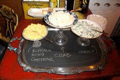 Chalkboard platter