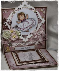 baby girl easel card by Lena