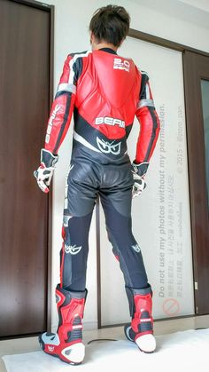 Bike Suit, Motorcycle Suit, Motorcycle Leather, Motocross, Man Tied Up, Bike Leathers, Asian Men, Leather Men, Poses