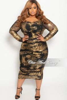 c6a7e86bc41 New Plus Size Long Sleeve Zip-Up Maze Print BodyCon Dress in Black ...