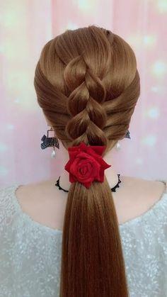 Bun Hairstyles For Long Hair, Braided Hairstyles Tutorials, Headband Hairstyles, Cute Hairstyles, Wedding Hairstyles, Hairstyle Braid, Heatless Hairstyles, Beautiful Hairstyles, Party Hairstyles