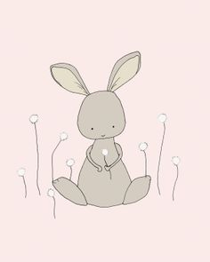 Bunny Art by sweetmelodydesigns