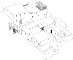 Reconstruction of an area of housing in the Main City, excavated between 2003–4, by Barry Kemp.
