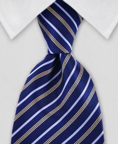 "Product number: DB-0086 Length: 57"" Width: 4"" Material: 100% Microfiber Care: Dry Clean / Spot Clean Label: Diamond Bailey This classic, navy blue and gold necktie will make you into a real gentleman!"