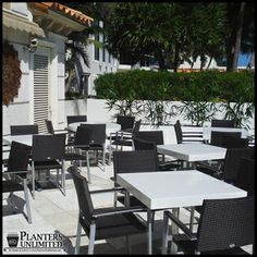 Make commercial design efficient and attractive using quality-grade site amenities. #restaurant, #furniture, #outdoor
