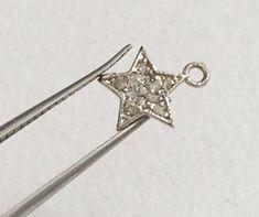 Pave Diamond Charm Pendant Diamond Star 925 by gemsforjewels