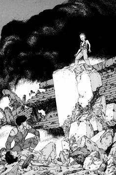 From the Akira Club Artbook by Otomo Comics Illustration, Illustrations, Manga Artist, Comic Artist, Manga Akira, Katsuhiro Otomo, Cyberpunk, Animation Tutorial, Film D'animation