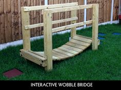 Interactive Sensory Garden Wobble Bridge. Maybe something like this would be cool on the concrete pad to bridge the two green areas......