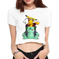 Women's Pikuto Pokemon Pikachu Crop Top T-shirt White /// buy now $14.66 Personalized SARHT Women's Pikuto Pokemon Pikachu Crop Top T-shirt White, Basic Short Sleeve Casual Navel T Shirt, Fashion And Stylish Design. Made Of 100% Cotton,printed At Font,designed To Last A Lifetime.Wash Inside Out In Cold Water, Hand Dry Recommended.rnSlim Fit T Shirt,Size Up If You Are In Between Sizes, S, M, L, …