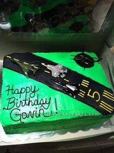 Coolest Jetplane Runway Birthday Cake... This website is the Pinterest of homemade birthday cakes