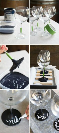 Wedding table decoration - ▷ ideas on how to create creative wine glasses .- Tischdeko Hochzeit – ▷ Ideen, wie Sie kreativ Weingläser dekorieren können – Wohnaccessoires Table decoration wedding 1001 ideas how you can decorate wine glasses creatively - Wedding Table, Diy Wedding, Wedding Gifts, Casual Wedding, Bridal Shower Gifts For Bride, Wedding Ideas, Bridal Gifts, Wedding Makeup, Perfect Wedding
