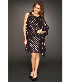 55aab5b4465 Nicole miller sequin stripe one shoulder dress navy