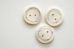Ceramic handmade buttons