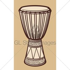 African Drum (Music Instrument, Traditional African drum)