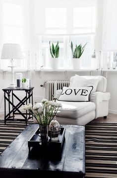 The monochrome trend is simple to roll out in your home, and provides the ultimate laid back luxe