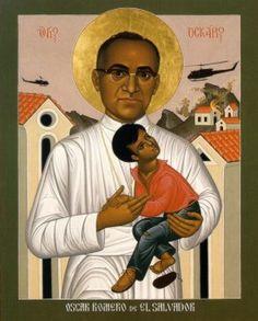 Morning Prayer Oscar Romero, Archbishop, & the Martyrs of El Salvador Catholic Saints, Roman Catholic, Catholic Art, Liberation Theology, Papa Francisco, Sacred Art, Religious Art, Religious Images, Religious Icons