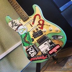 Green Day's Billie Joe Armstrong's first guitar, 'Blue'