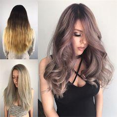 Velvet Blush Mauve with New Schwarzkopf Opulescence - Hair Color - Modern Salon Blonde Back, Ashy Blonde Hair, Dark Brunette, Gorgeous Hair Color, Cool Hair Color, Hair Colors, Sombre Hair Color, Mauve, Hair Color Formulas