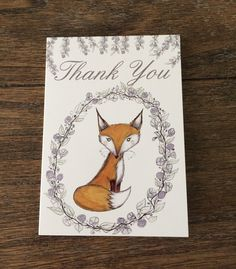 Fox thank you cards https://www.etsy.com/listing/481937914/fox-thank-you-cards-set-of-3-fox-art