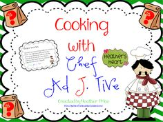 Chef Ad J. Tive visits your classroom and helps your kiddos cook up some adjective pizza.  You will love this fun and engaging *freebie*.