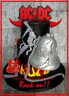 AC-DC Cake - Hells Bells Album www.sugarandspicecakes.co.nz