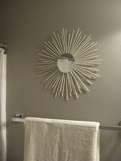 Wonderfully Domestic: DIY Sunburst Mirrors - On The Cheap!